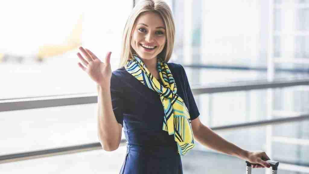 Be a flight attendant - flight attendant waving